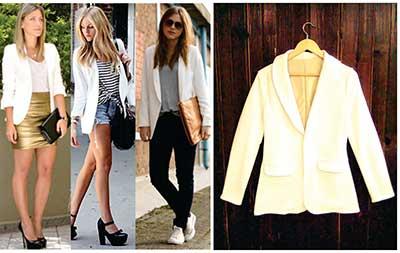 Looks com blazer branco
