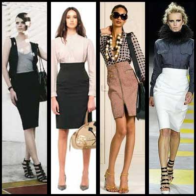 modelos de saia secretária