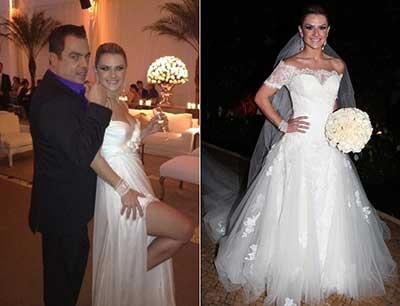 vestidos das famosas de casamento