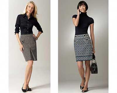 modelo de saia secretária