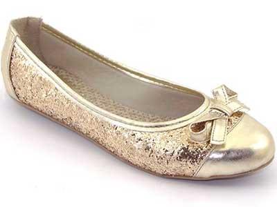 fotos de sapatilhas douradas