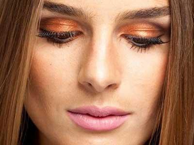 maquiagens com olho laranja