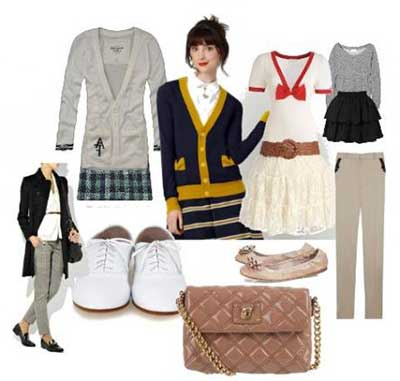 looks do estilo preppy