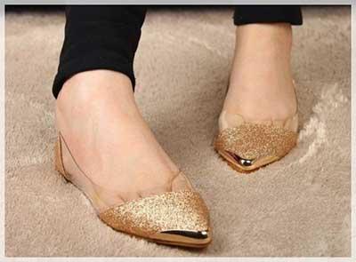 modelos de sapatilhas douradas