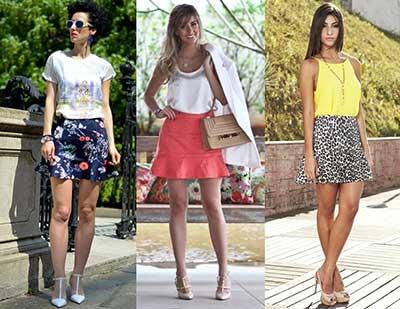 saias da moda feminina