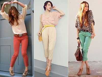 fotos de calças cropped