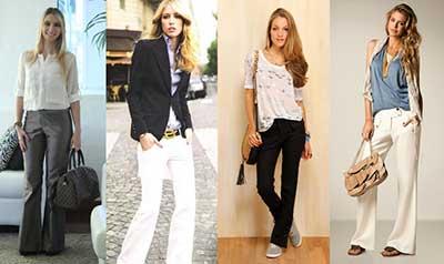 fotos de calças de alfaiataria