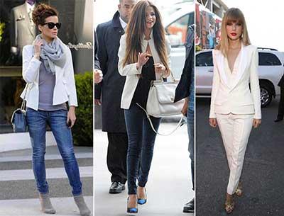 modelos de blazer branco
