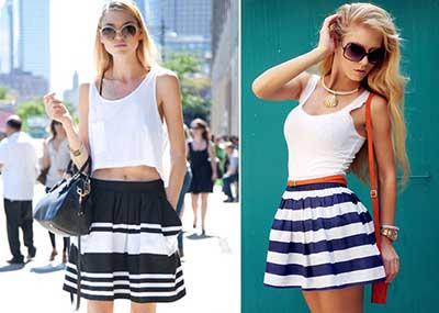 tendências de saias femininas