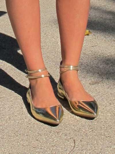 sapatilhas douradas