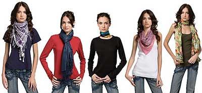 modelos de cachecóis femininos