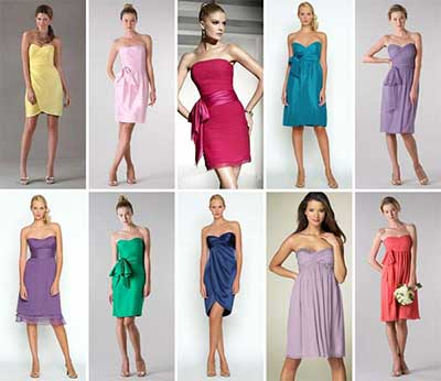 vários modelos de vestidos