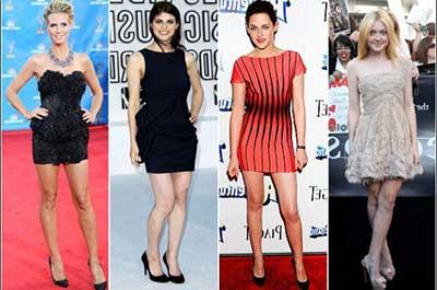Traje social vestido longo ou curto
