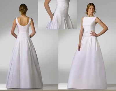 vestidos simples de noiva