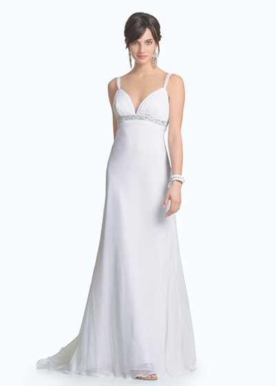 fotos de vestidos simples de noiva