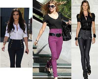 Calças Femininas Cintura Alta