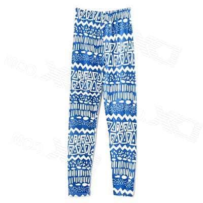 calças azuis para mulheres