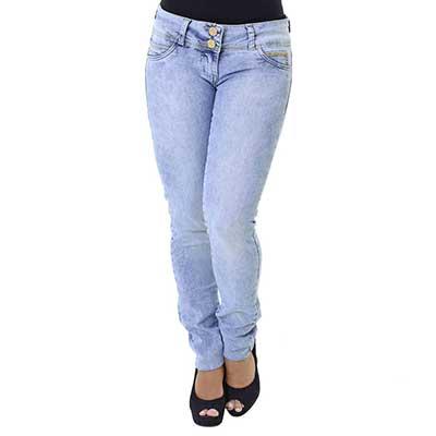 modelo de calça jeans azul para mulheres