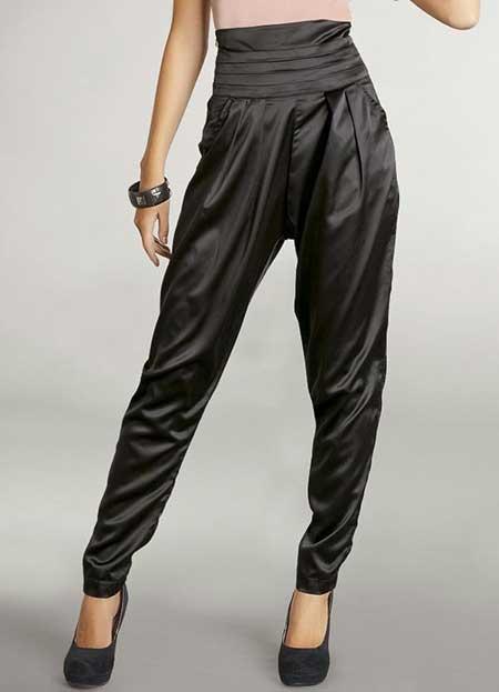 calça preta de tecido