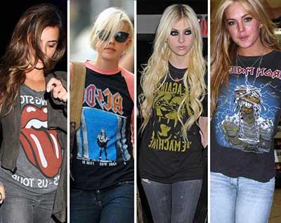 looks do mundo do rock