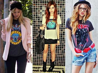 moda rock feminina