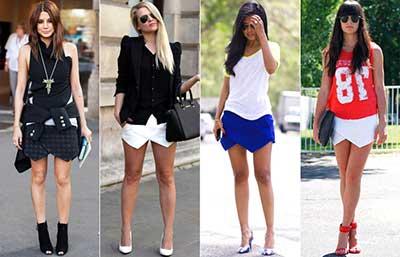 look com shorts cintura alta