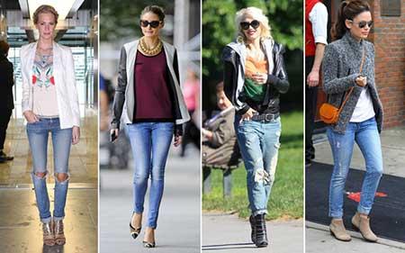 com calça jeans