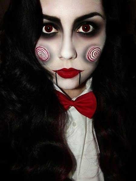 fotos de maquiagem para halloween