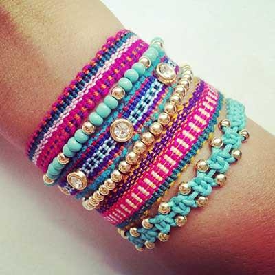 modelos de pulseiras hippies