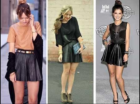 Modelos de saias curtas
