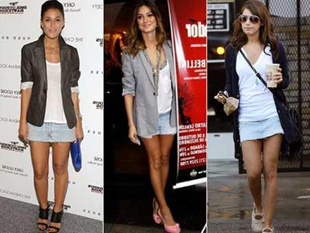 Tendências de saias curtas