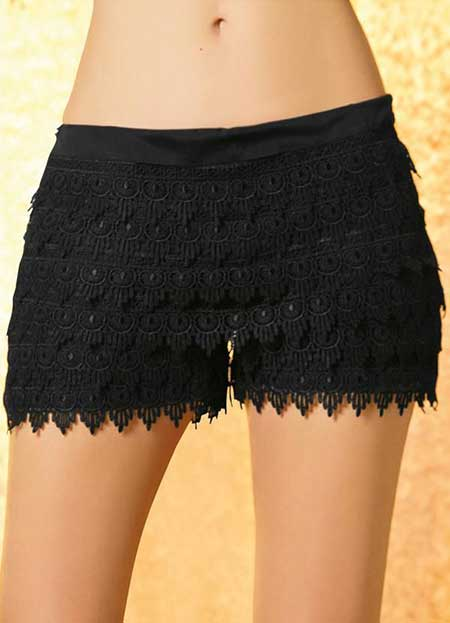 imagens de shorts de renda
