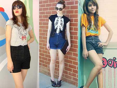 looks femininos com shorts