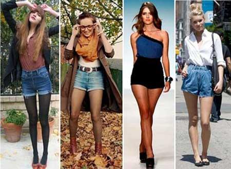 modelo de short cintura alta