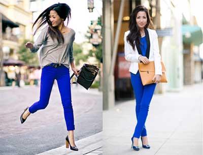 fotos de calça azul