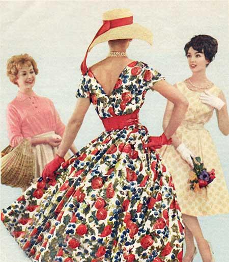modelos de roupas anos 60