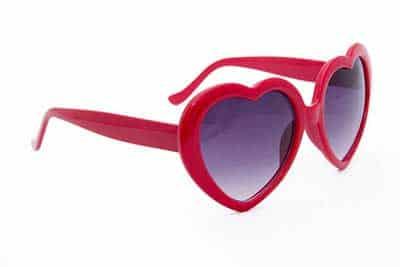 fotos de óculos de coração
