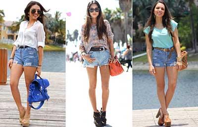 modelos de shorts femininos