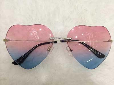 dicas de óculos de coração