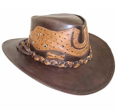 modelo de chapéu de couro