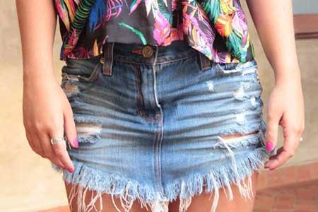 jeans rasgadinha