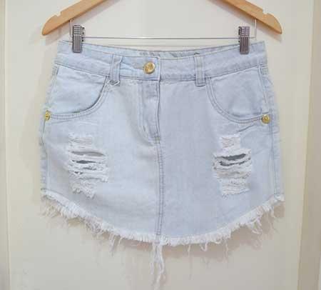 fotos de saia jeans de bico
