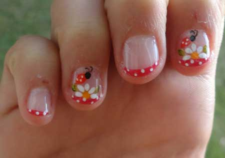 unhas curtas decoradas