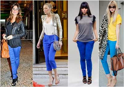 fotos de calças azuis