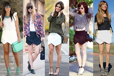looks com short assimétrico