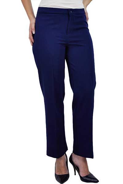 calças azuis femininas