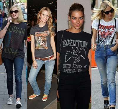 fotos de camisetas de banda