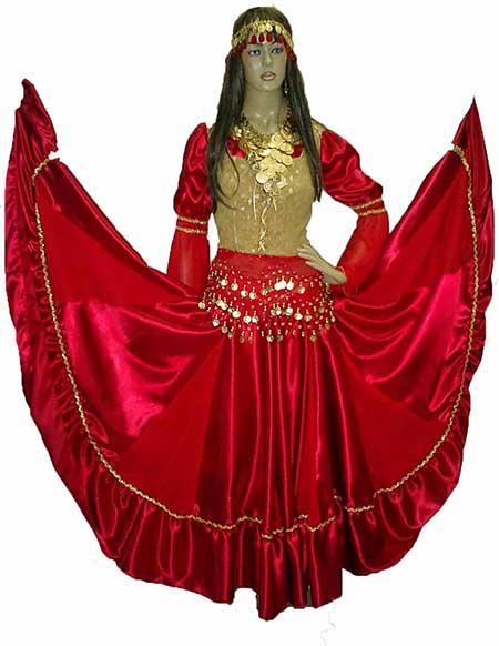 roupa feminina de cigana