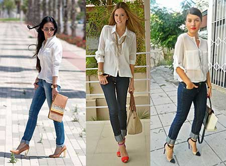looks com calça jeans