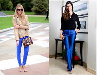 modelo de calça azul